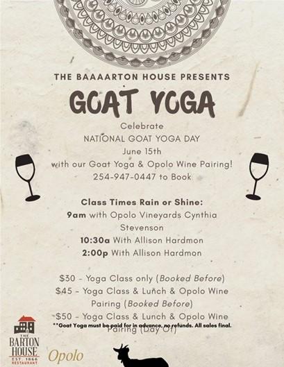 Goat Yoga TX Flyer
